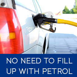 no need to fill up with petrol