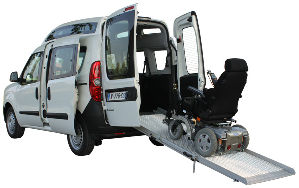 Vehicle adapted for disabled persons